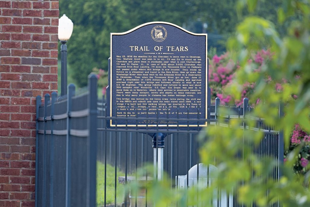 sign regarding the Trail of Tears