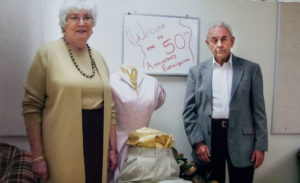 Roy and Aileen Matthews celebrating 50 years