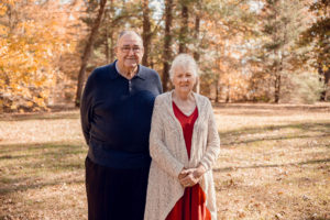 William and Betty Ikard standing outside