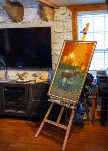 painting of elk
