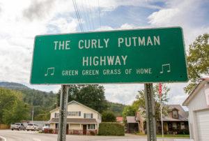 Curly Putnam Highway sign
